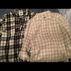 Old Navy plaid tops